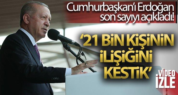 Cumhurbaşkanı Erdoğan: 'FETÖ'yle irtibatı olan 21 bin TSK mensubunun orduyla ilişkisi kesildi''