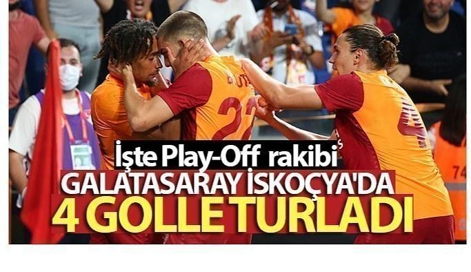 Galatasaray İskoçya'da 4 golle turladı