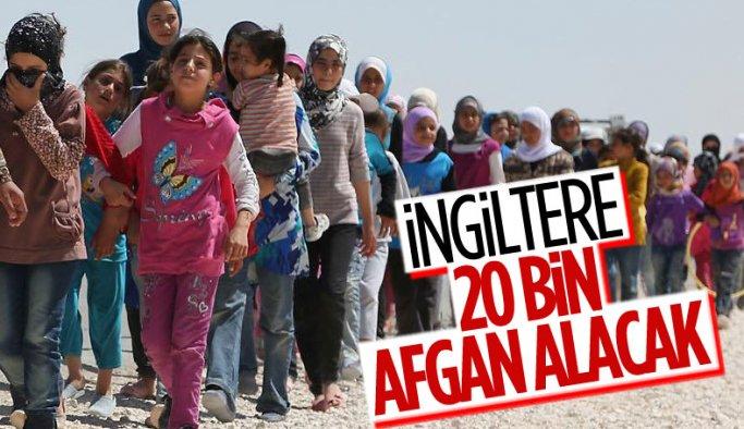 İngiltere 20 bin Afgan'ı alacağını açıkladı