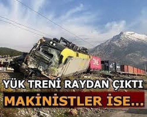 İzmir'de yük treni raydan çıktı !