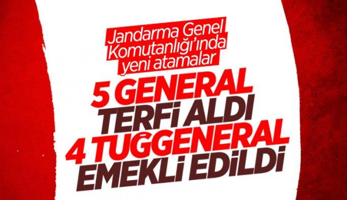 Jandarma Genel Komutanlığı'nda atamalar Resmi Gazete'de yayınlandı