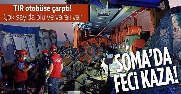 Katliam gibi kaza: Yolcu otobüsü tıra çarptı: 9 ölü, 30 yaralı