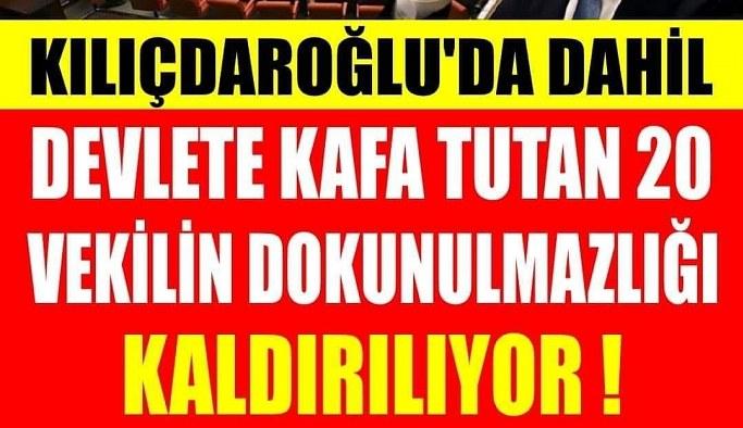 Kılıçdaroğlu'nun da bulunduğu 20 milletvekiline ait dokunulmazlık dosyaları TBMM Başkanlığına sunuldu