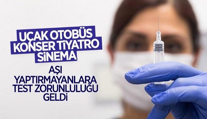 Konser, tiyatro ve sinema faaliyetleri için PCR testi zorunlu olacak