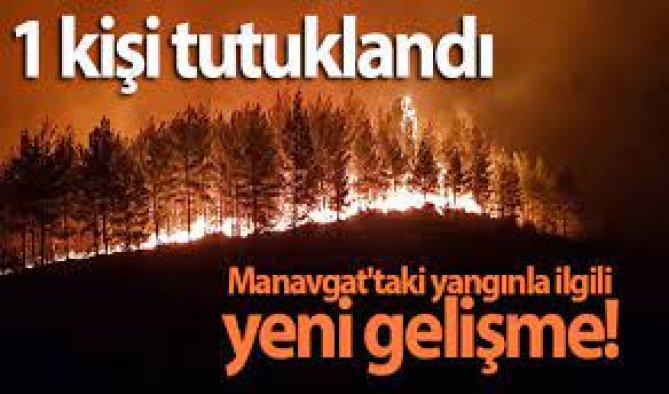 Manavgat'taki yangınla ilgili bir kişi tutuklandı