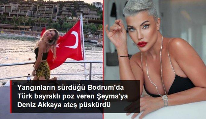 Şeyma Subaşı'nın Türk bayraklı paylaşımına en büyük tepki Deniz Akkaya'dan geldi