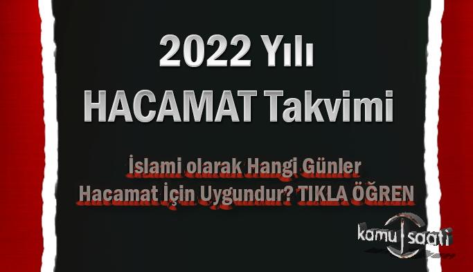2022 Yılı Hacamat Takvimi Hacamat hangi günler yaptırılır? İşte İslami olarak 2022 yılının hacamat Günleri Takvimi