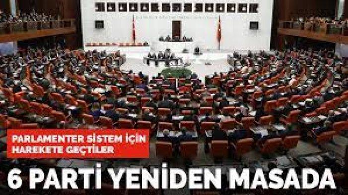6 parti, parlamenter sistem için ikinci kez masaya oturdu