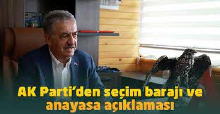 AK Parti'den seçim barajı ve Anayasa açıklaması