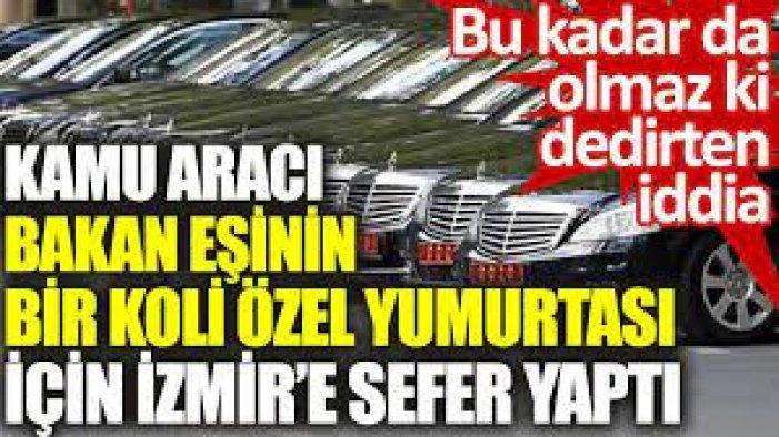 Ankara'dan Çeşme'ye makam aracı ile bir koli yumurta taşıttıran Bakan eşi kim?