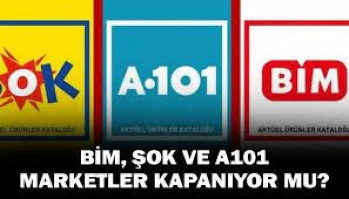 Erdoğan 5 marketi işaret etti! Bim ,Şok A101 Kapatılacak mı?