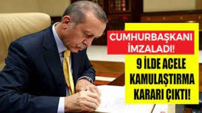 Erdoğan söz vermişti! 9 ilin ismi açıklandı!