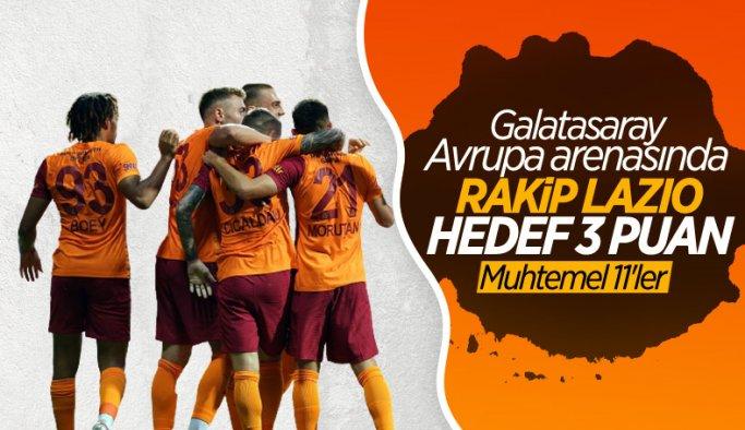 Galatasaray - Lazio maçı bu akşam oynanacak işte takımların muhtemel 11'leri