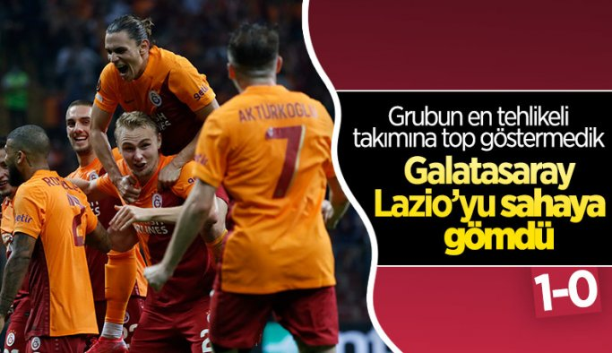 Galatasaray, Lazio'yu tek golle mağlup etti