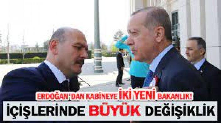 İçişleri'nde büyük değişiklik: Erdoğan'dan kabineye iki yeni bakanlık!
