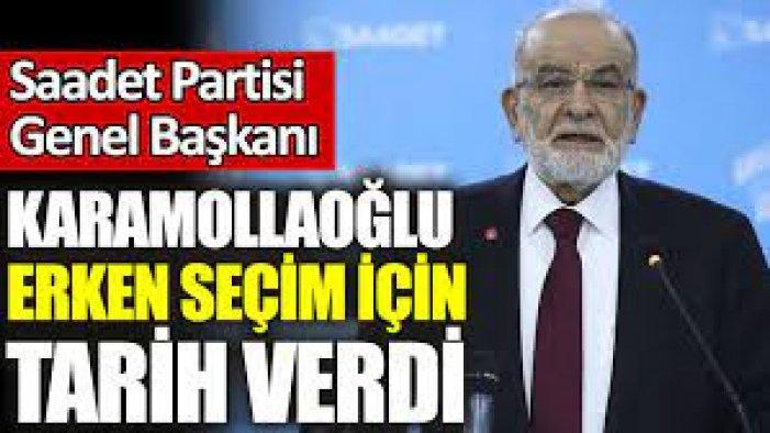 Karamollaoğlu, seçim beklediği tarihi açıkladı