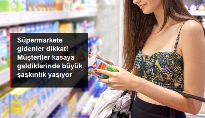 Süpermarkete gidenler dikkat! Reyon ile kasa arasında 2 lira 25 kuruş fark tespit edildi
