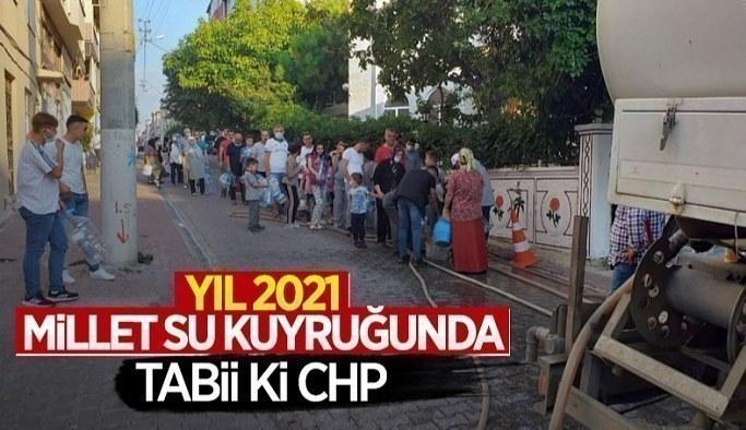 Tekirdağ Çorlu'da vatandaş su almak için sokağa döküldü