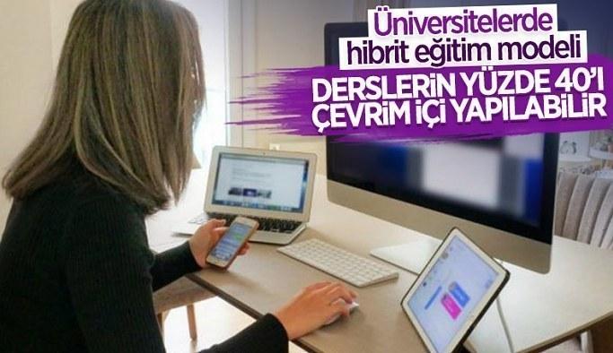 YÖK Başkanı Erol Özvar: Üniversitelerimizde hibrit eğitime geçilecek