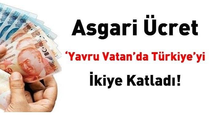 Asgari ücret 'Yavru Vatan' da Türkiye'yi ikiye katladı!