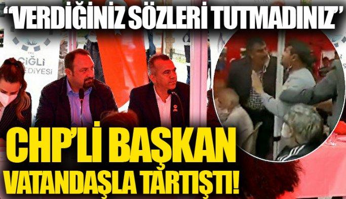 CHP'li Belediye Başkanı kendisine tepki gösteren vatandaşla tartıştı: Böyle bir konuşmaya müsaade etmem