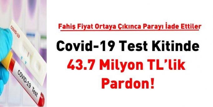 Covid-19 test kitinde 43.7 milyon TL'lik pardon! Firma parayı iade etti
