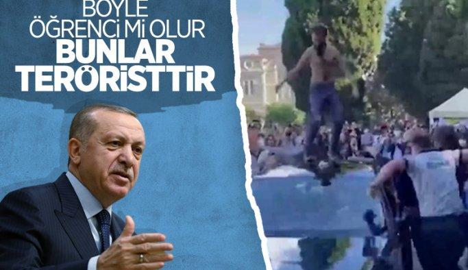 Cumhurbaşkanı Erdoğan'dan Boğaziçi Üniversitesi'ndeki olaylara tepki