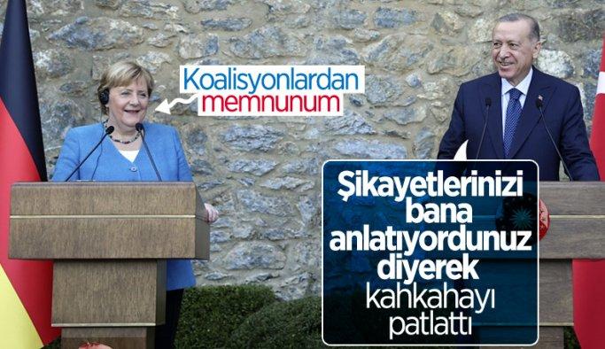 Cumhurbaşkanı Erdoğan ile Angela Merkel arasında koalisyon diyaloğu