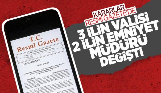 Cumhurbaşkanı Erdoğan imzaladı: 3 ilin valisi değişti
