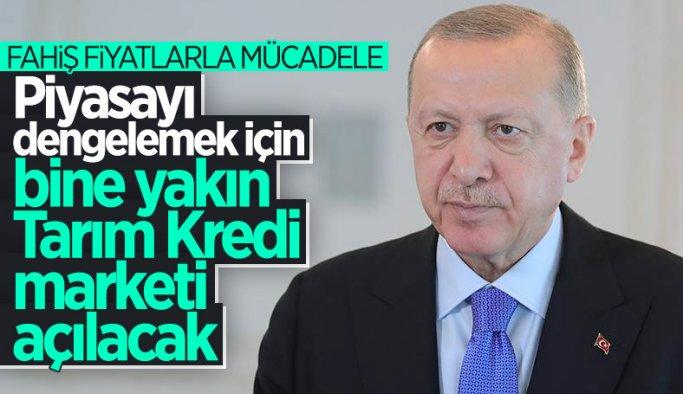 Cumhurbaşkanı Erdoğan: Türkiye genelinde 1000 kadar market açılacak