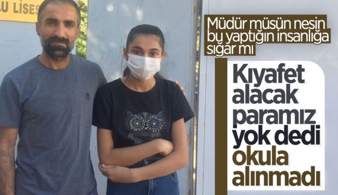 Diyarbakır'da üniforma alamayan öğrenci, okula alınmadı
