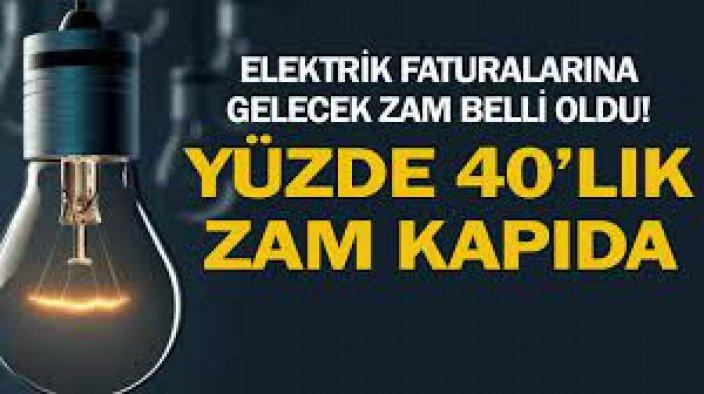 Elektrik faturalarına gelecek zam belli oldu! Yüzde 40'lık zam kapıda