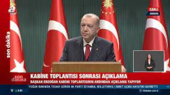 Erdoğan: Üreticilerimizi korumak için her türlü tedbiri alıyoruz
