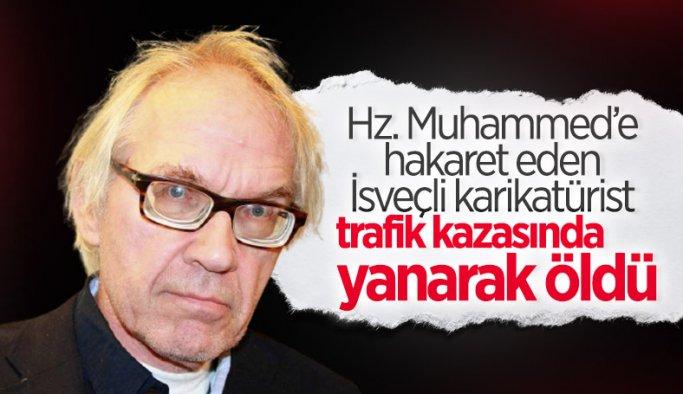 İslam karşıtı İsveçli karikatürist Vilks trafik kazasında öldü