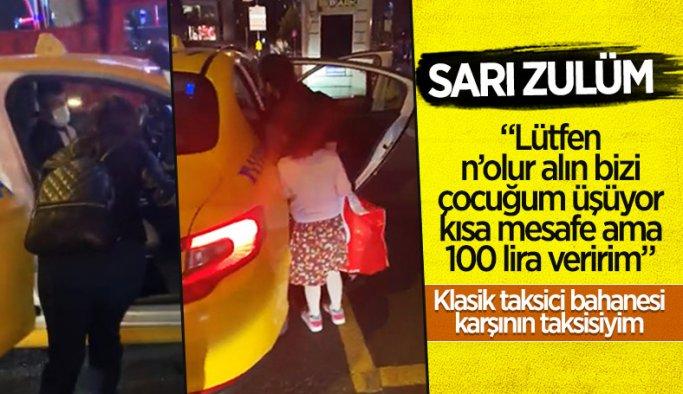 İstanbul'da bir taksi şoförü 'karşının taksisiyim' diyerek yolcuyu almadı