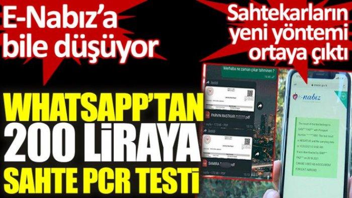 İstanbul'da WhatsApp üzerinden 'PCR' sahtekarlığı
