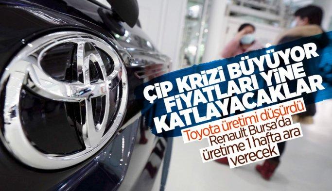 Renault Üretimi Durdurdu, Toyota üretimini yüzde 15 düşürecek