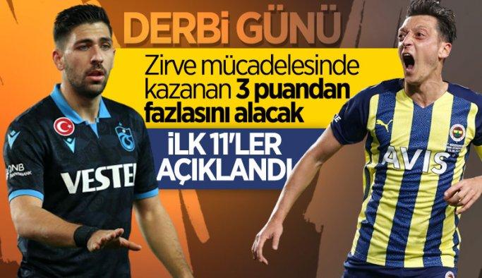 Trabzonspor-Fenerbahçe maçının ilk 11'leri