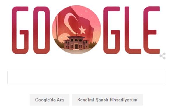 29 Ekim Cumhuriyet Bayramı Google tarafından da kutlandı