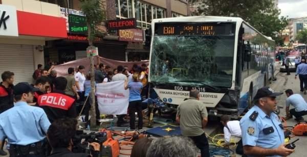 Ankara Dikimevi'ndeki otobüs kazasında ölenlerin yakınlarına 100'er bin lira