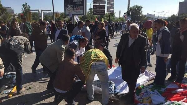 Ankara'da patlama ölü ve yaralılar var