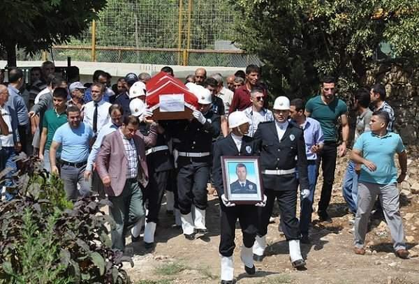 Mardin'de Şehit Düşen Polis Memuru Yakup Mete İçin Tören Düzenlendi