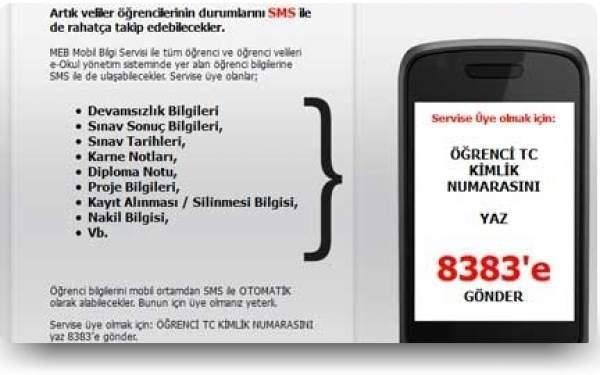 MEB Sınav Notlarını Velilere SMS ile Gönderecek
