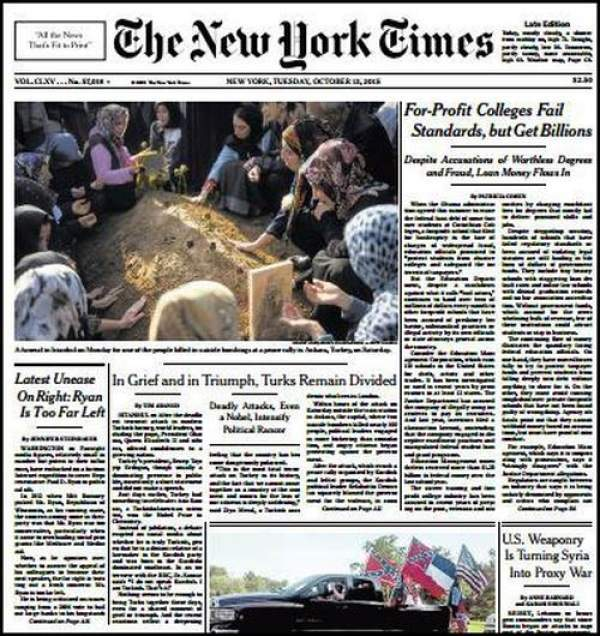 New York Times: 'Ne zafer, ne keder..'