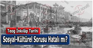 Teog İnkılap Tarihi sınavı sosyal kültürel sorusunda hata var mı?