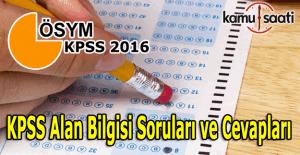 2016 KPSS Hukuk, İşletme, Maliye soruları ve cevapları