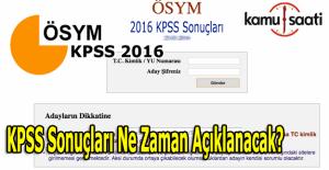 KPSS sonuçları ne zaman açıklanacak? ÖSYM KPSS Sonuçları
