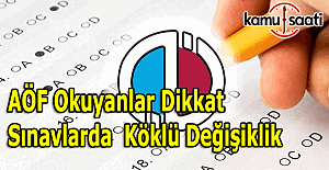 AÖF sınavlarında 4 yanlış, 1 doğruyu götürecek