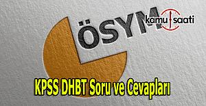 2016 KPSS DHBT soru ve cevapları burada