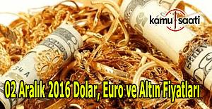 2 Aralık 2016 Dolar, Euro ve Kapalı Çarşı altın fiyatları